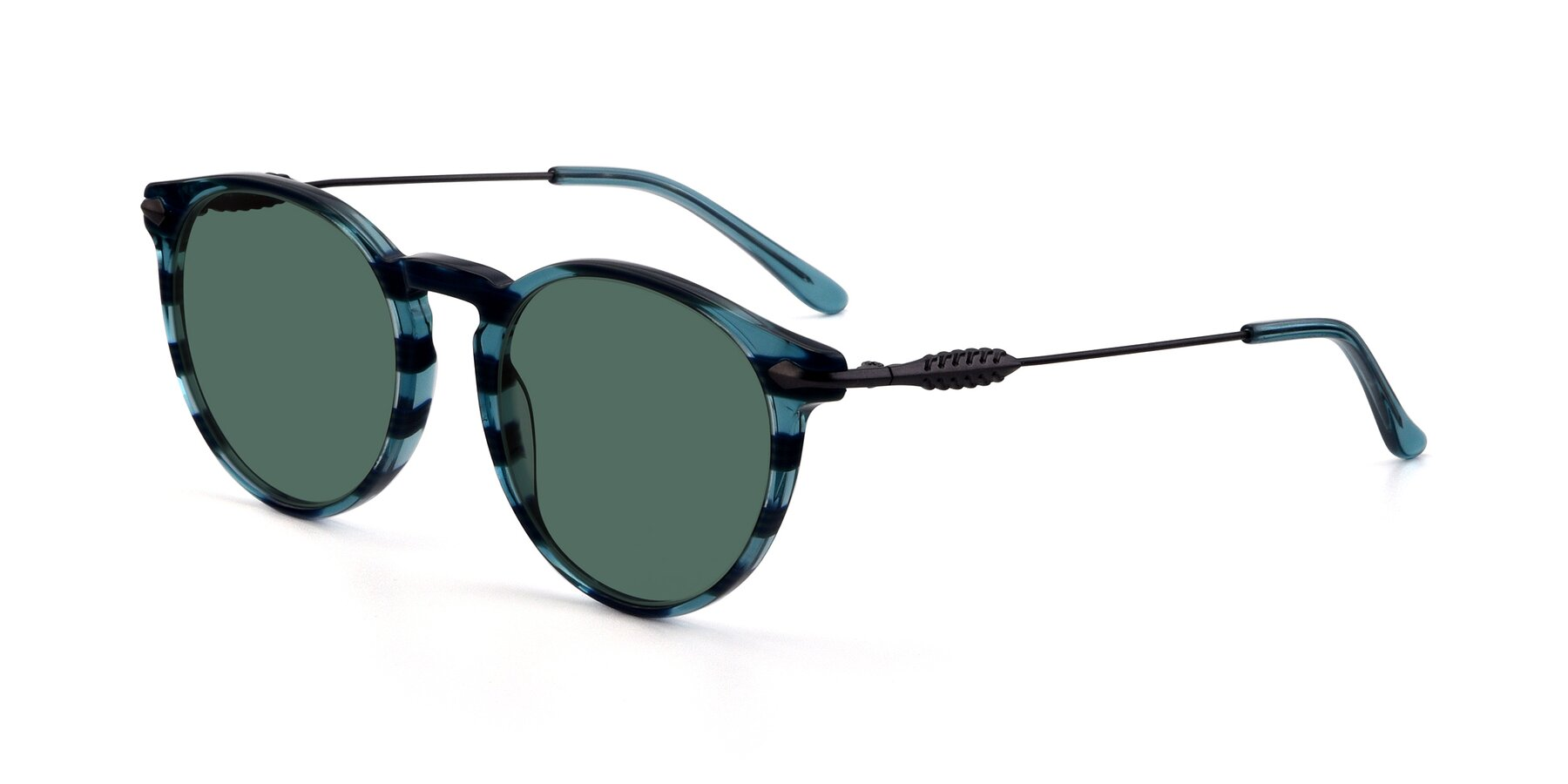 Angle of 17660 in Stripe Blue with Green Polarized Lenses