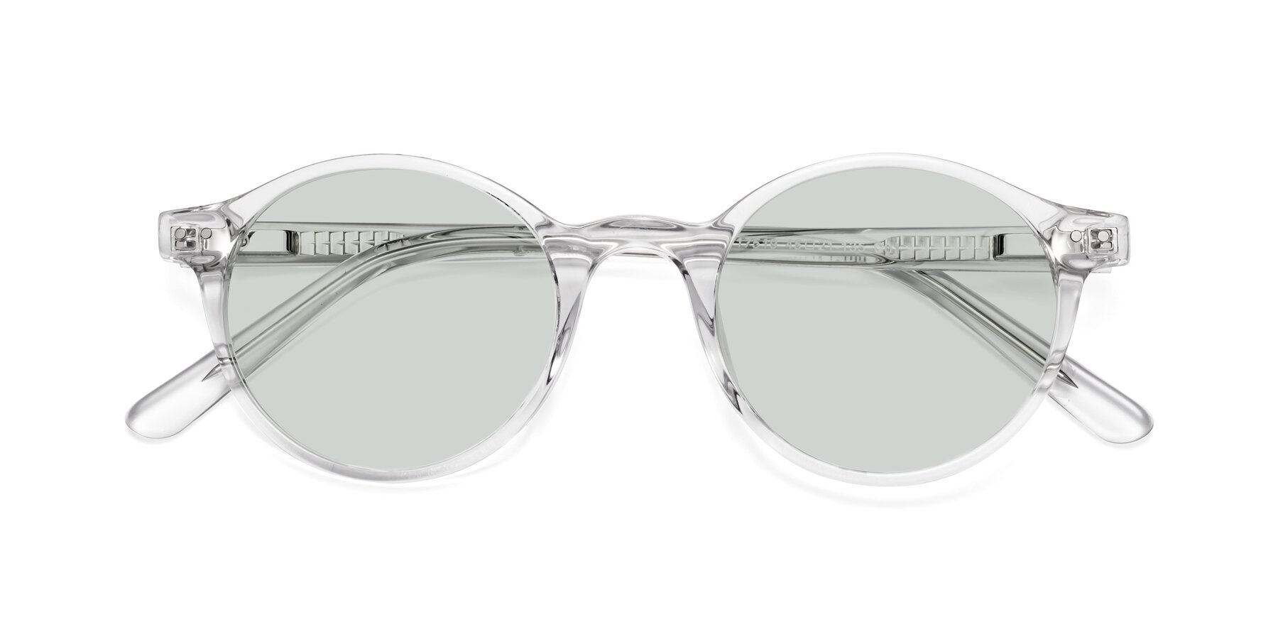 Folded Front of 17519 in Clear with Light Green Tinted Lenses