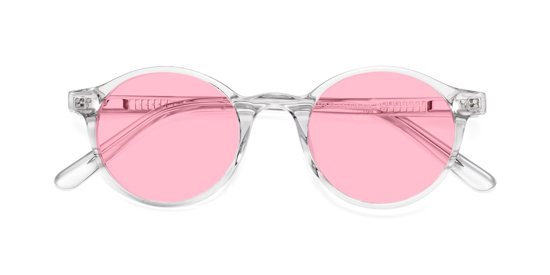 Folded Front of 17519 in Clear with Medium Pink Tinted Lenses