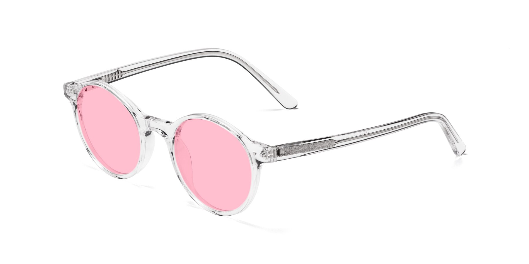 Angle of 17519 in Clear with Medium Pink Tinted Lenses