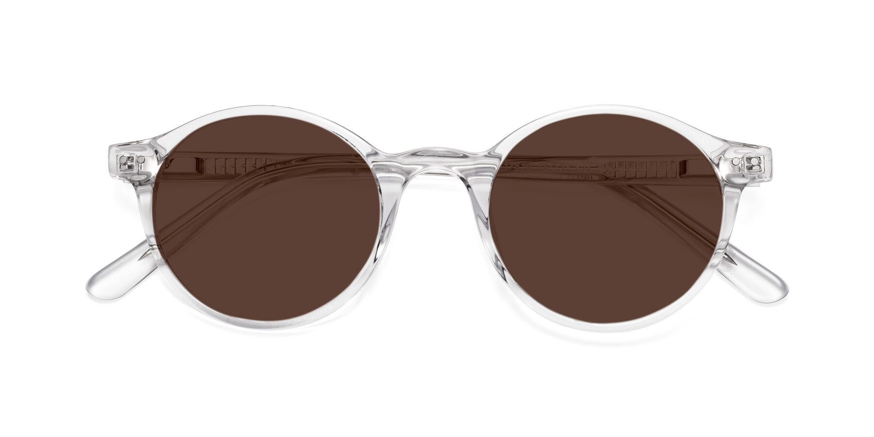 Folded Front of 17519 in Clear with Brown Tinted Lenses