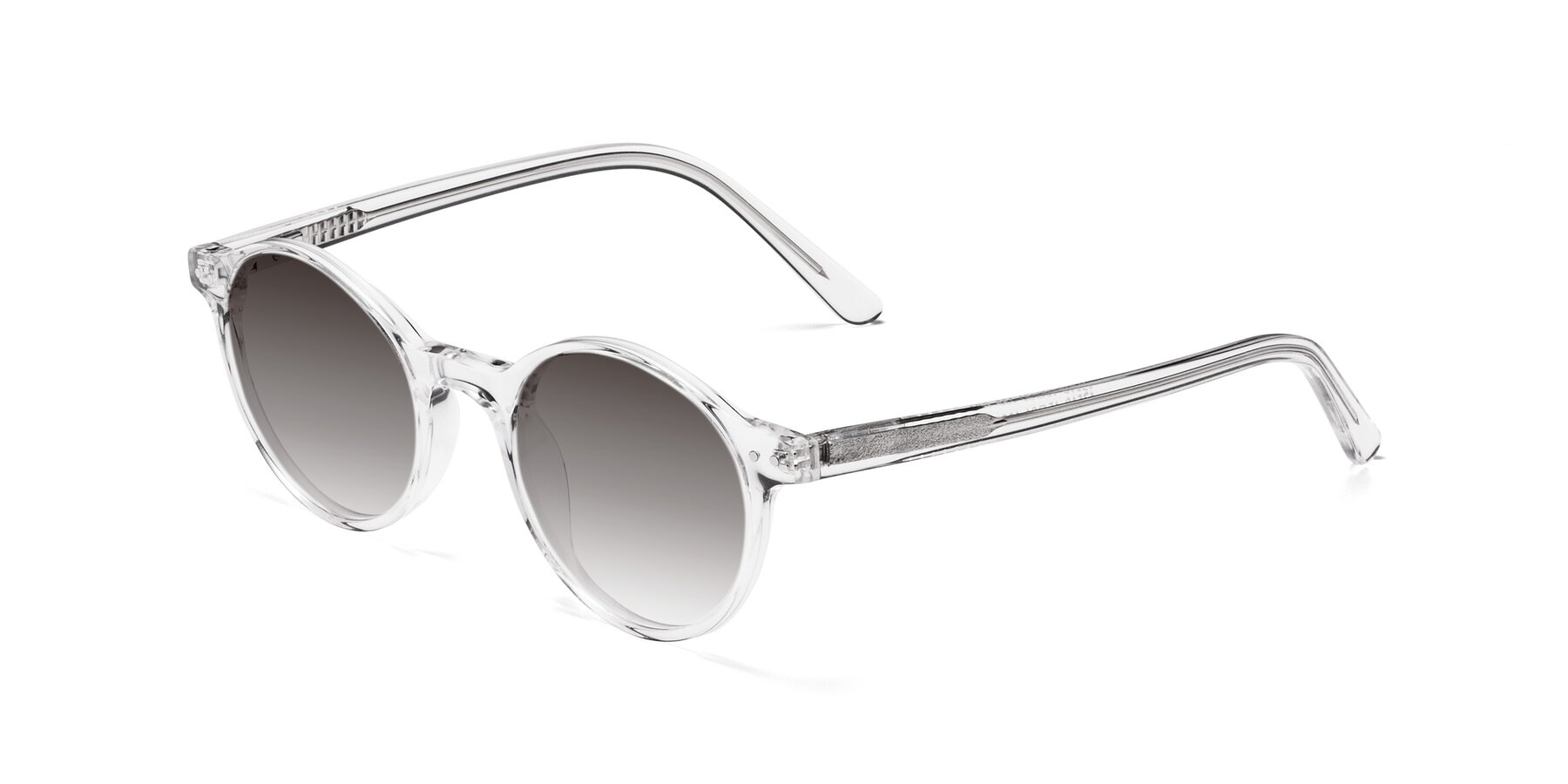 Angle of 17519 in Clear with Gray Gradient Lenses