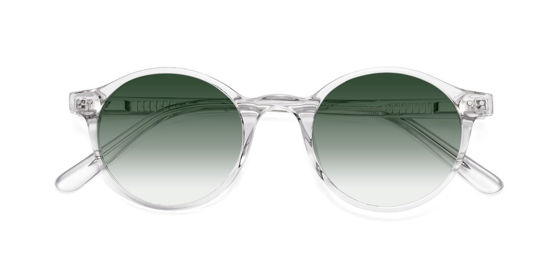 Folded Front of 17519 in Clear with Green Gradient Lenses