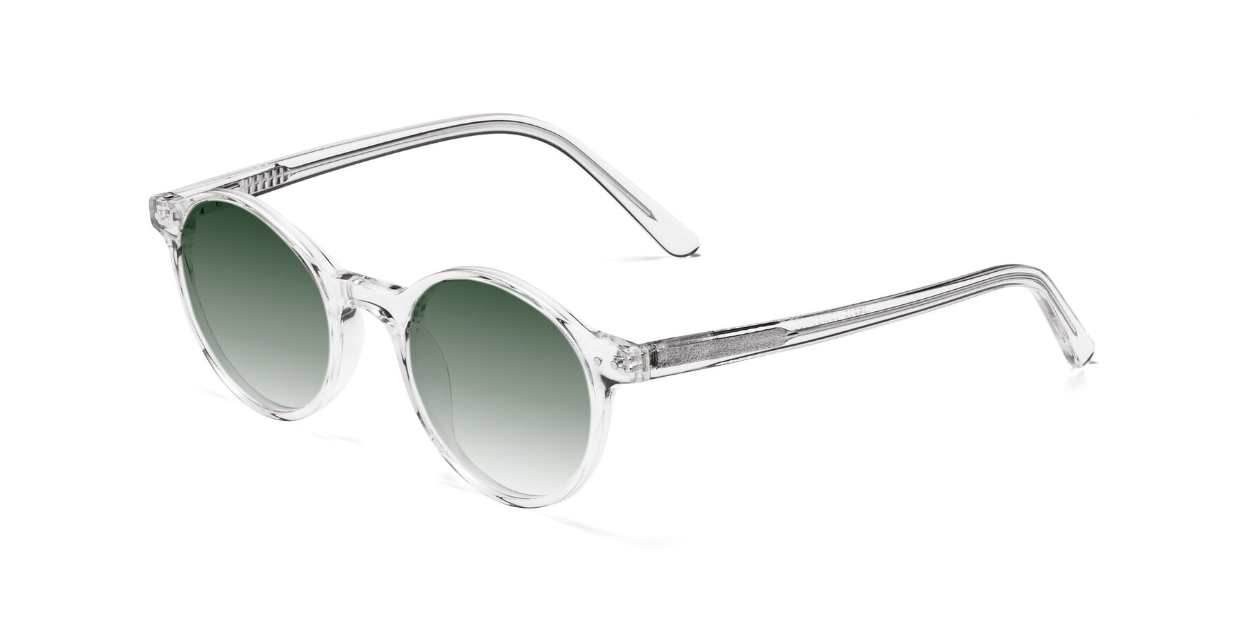 Angle of 17519 in Clear with Green Gradient Lenses