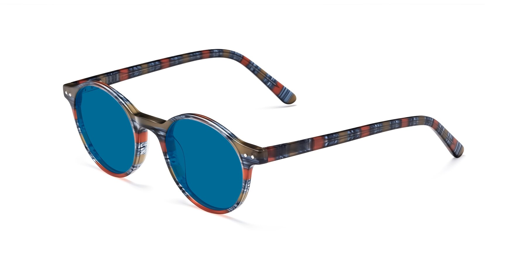 Angle of 17519 in Stripe Blue Red with Blue Tinted Lenses