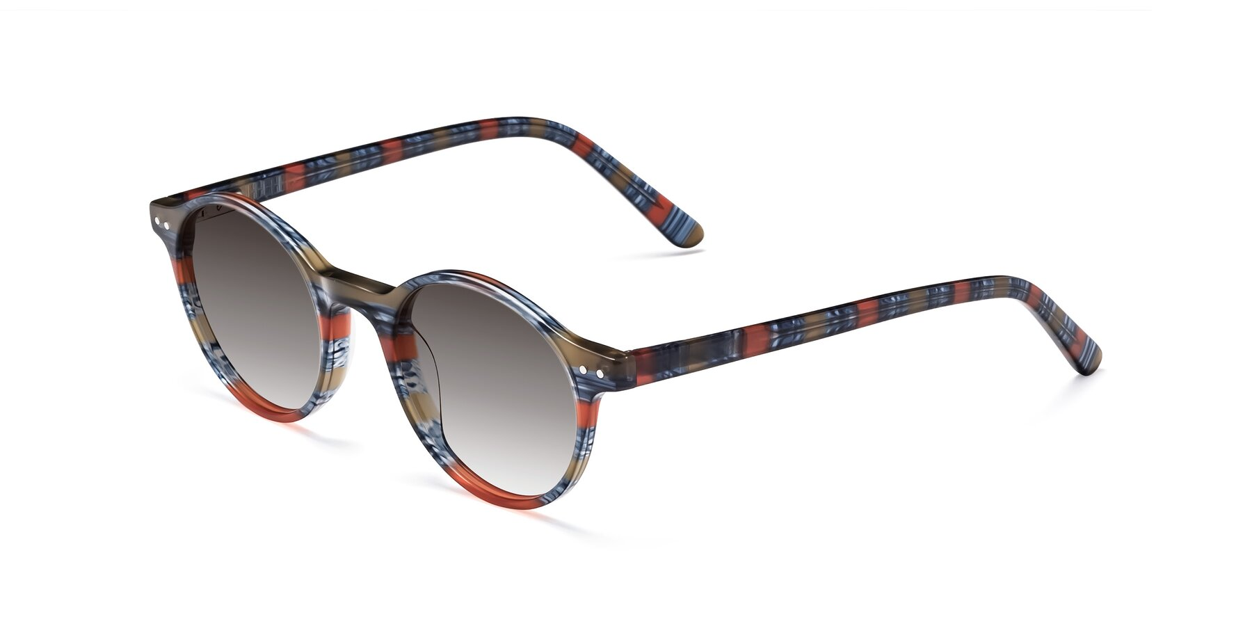 Angle of 17519 in Stripe Blue Red with Gray Gradient Lenses