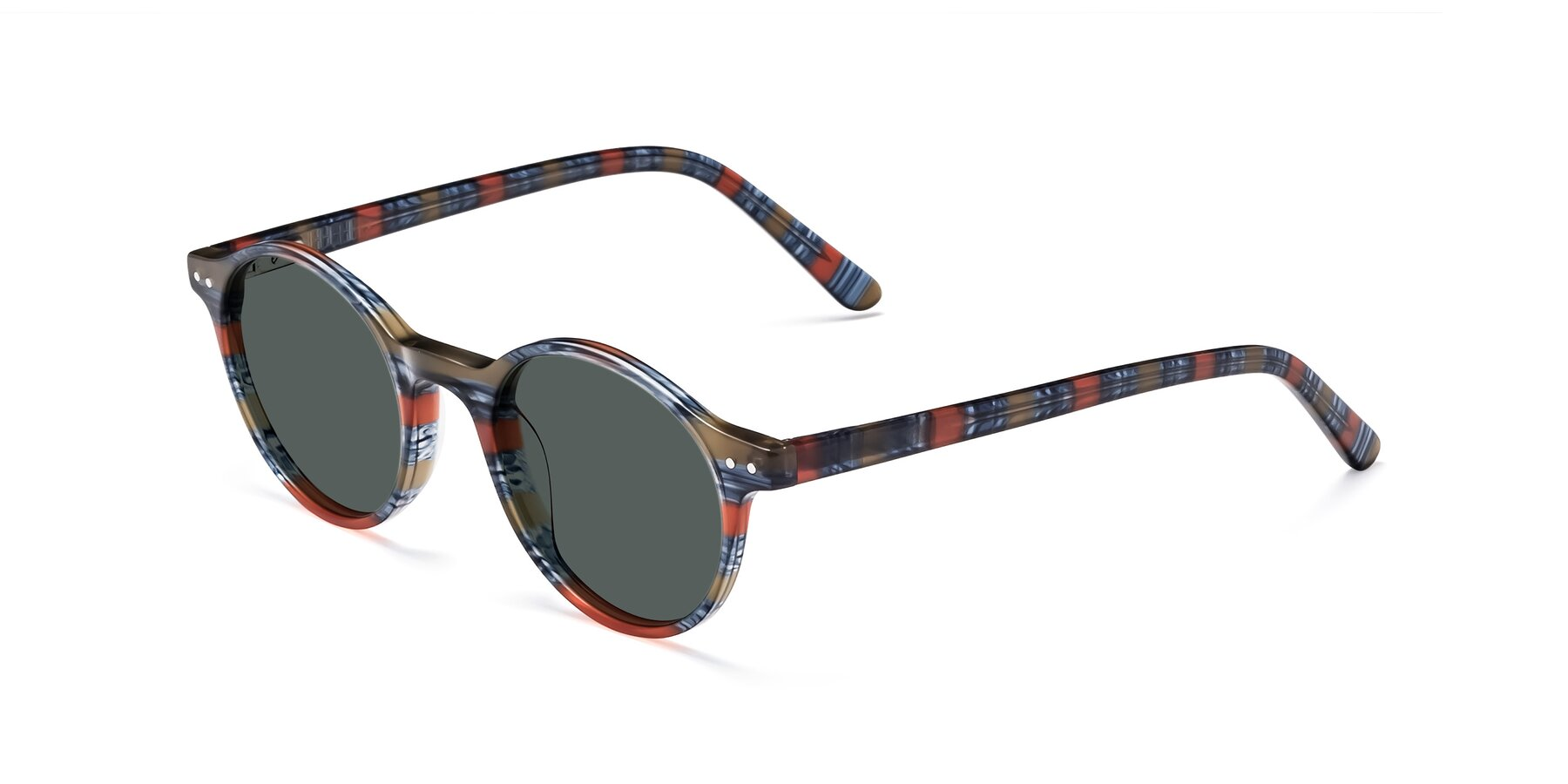 Angle of 17519 in Stripe Blue Red with Gray Polarized Lenses