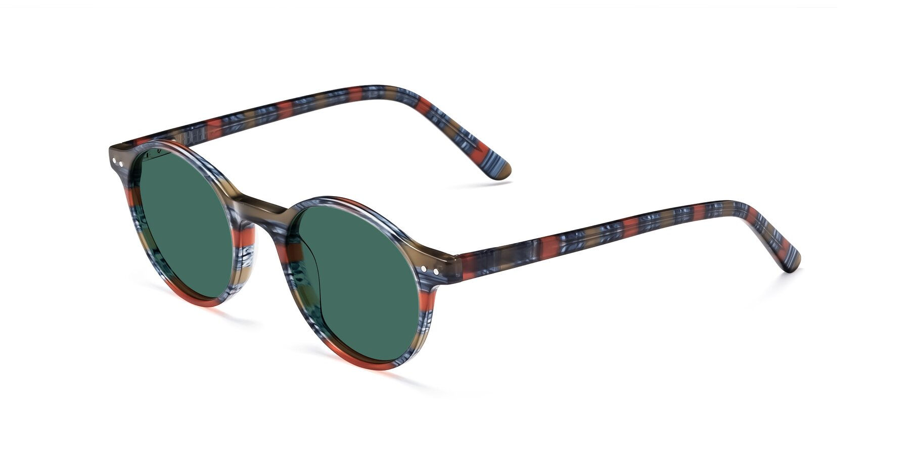 Angle of 17519 in Stripe Blue Red with Green Polarized Lenses