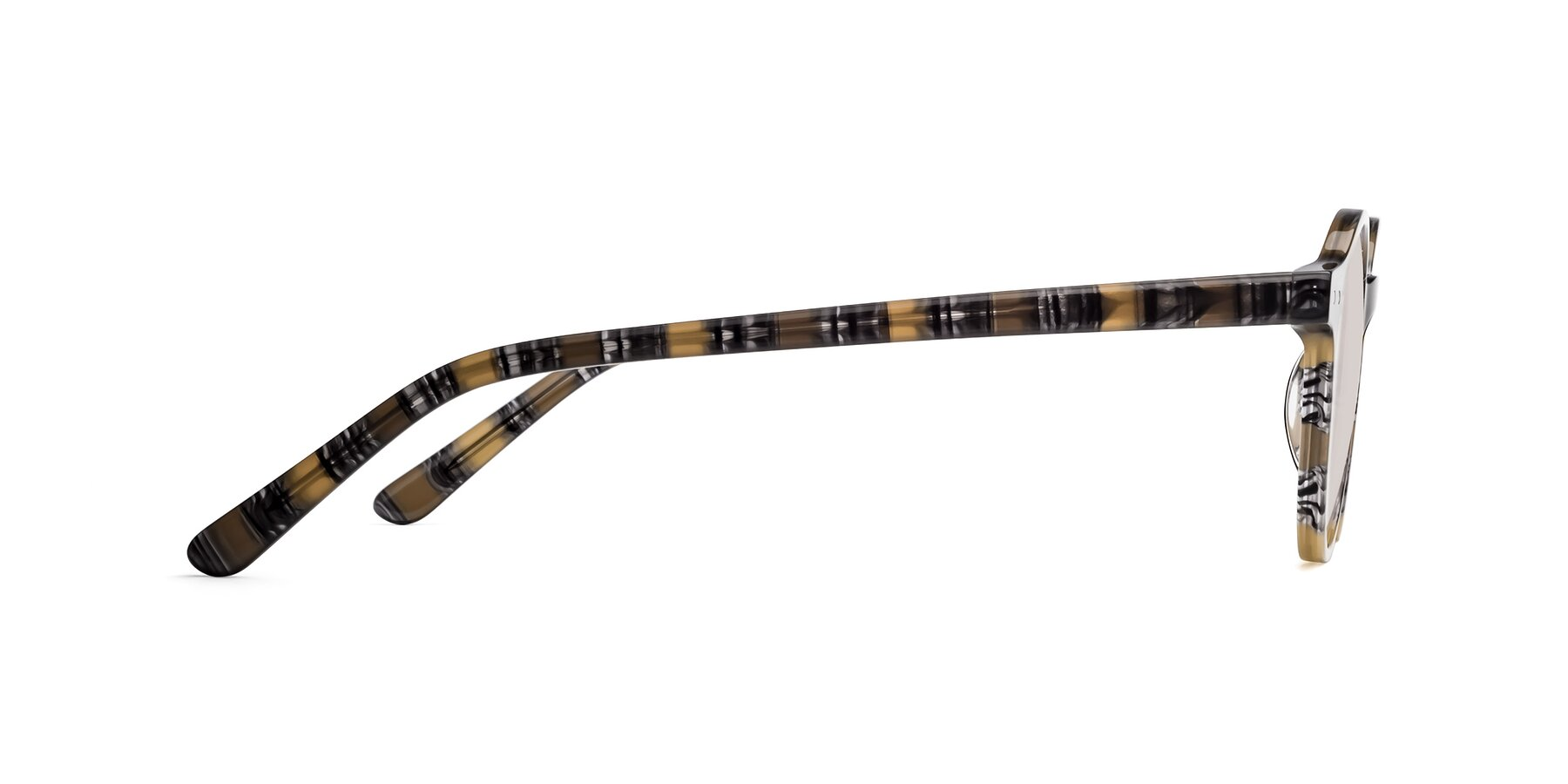 Side of 17519 in Stripe Yellow Grey with Light Brown Tinted Lenses