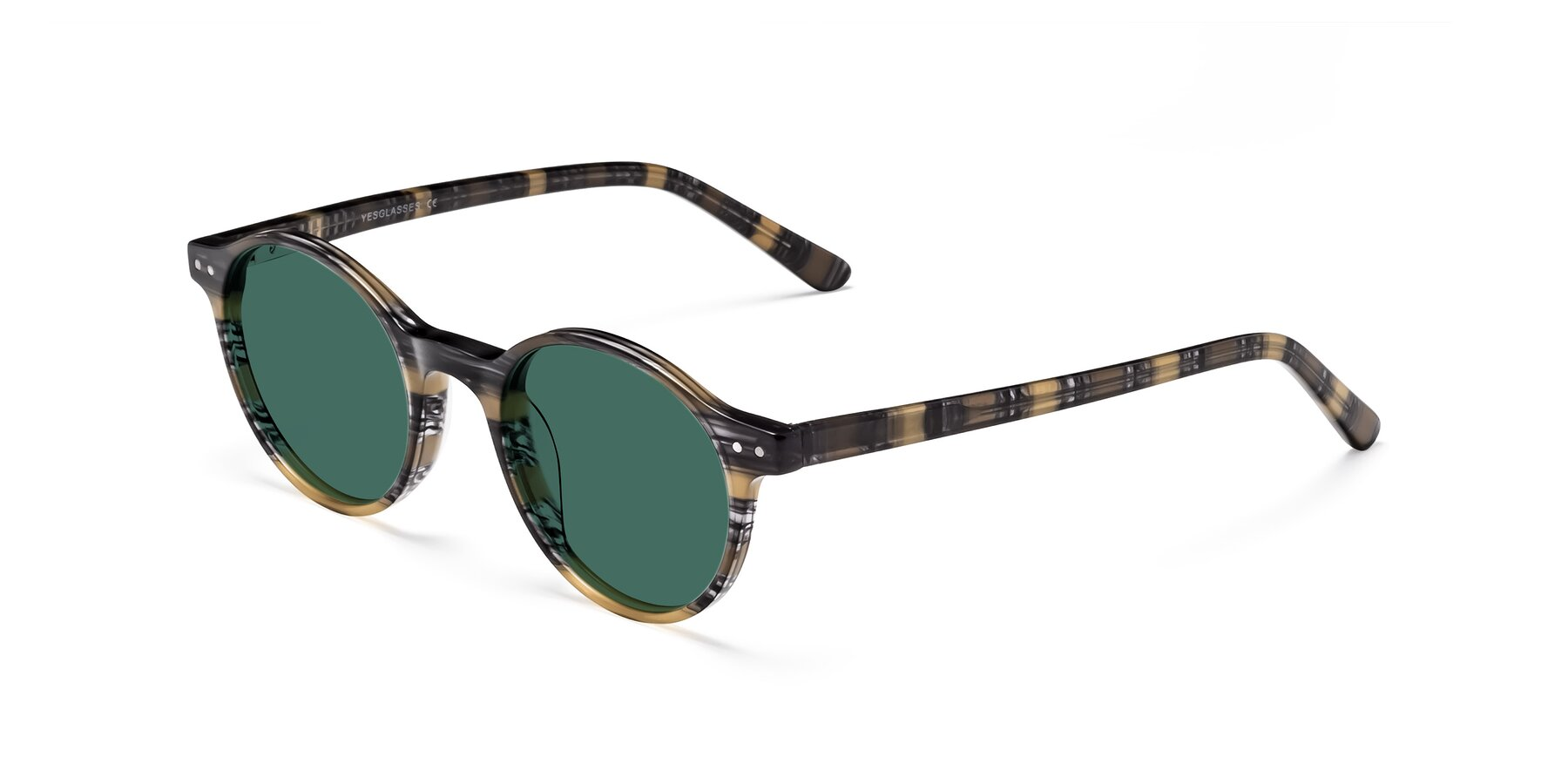 Angle of 17519 in Stripe Yellow Grey with Green Polarized Lenses