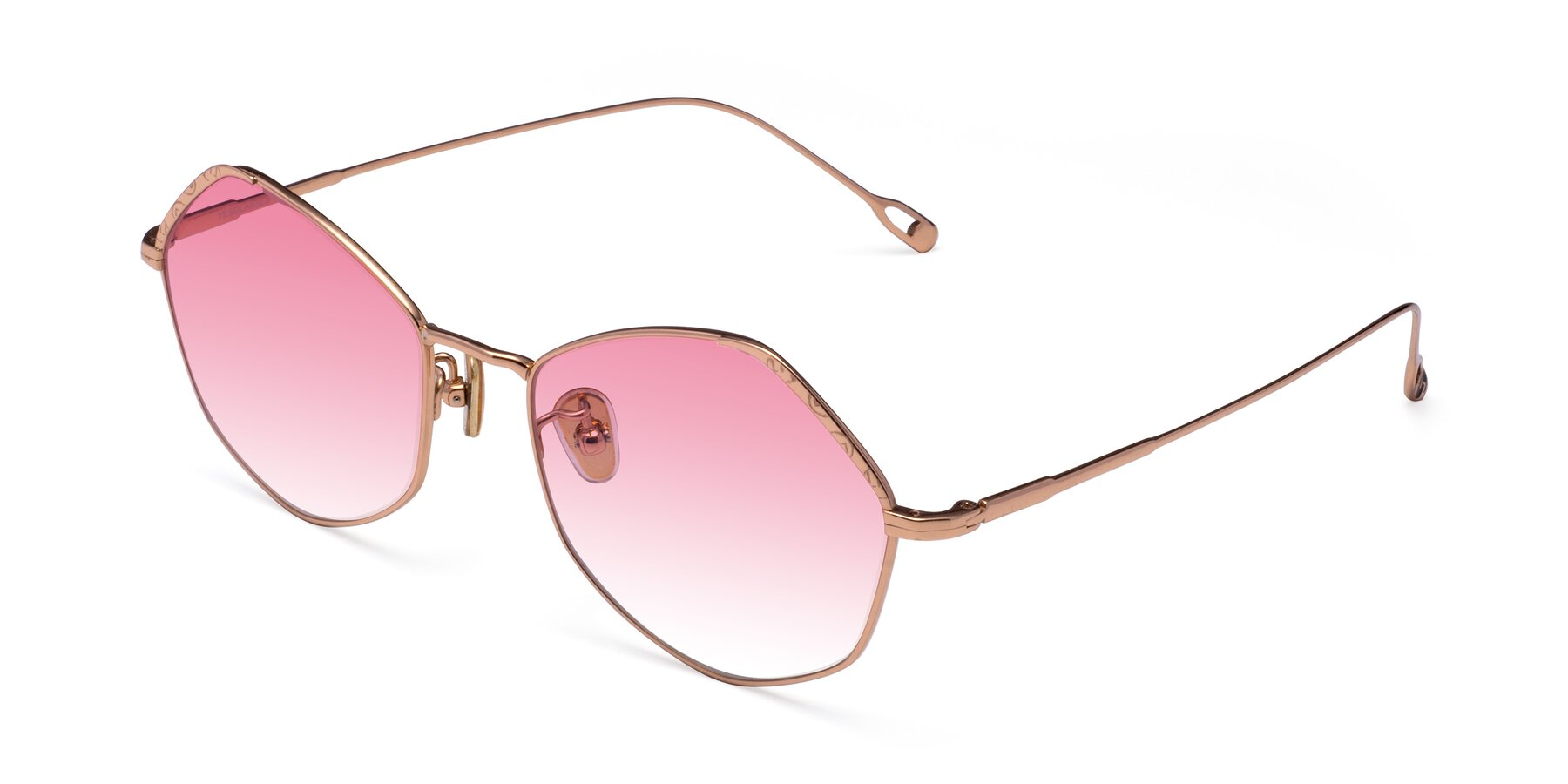 Angle of Phoenix in Rose Gold with Pink Gradient Lenses