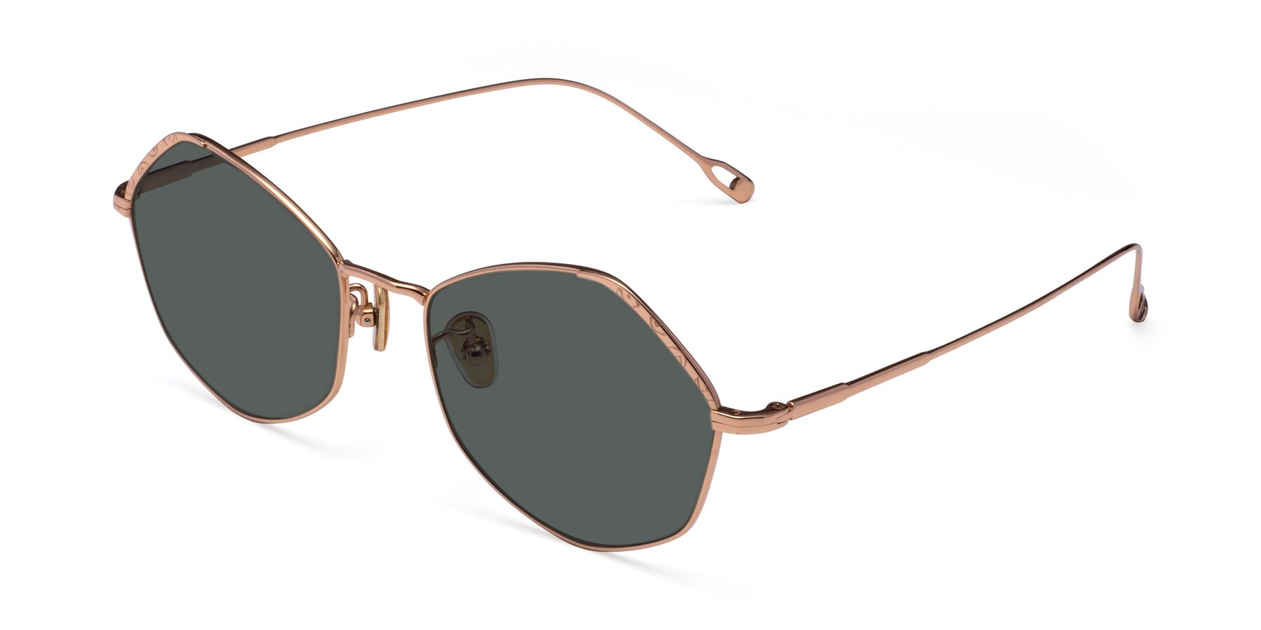 Angle of Phoenix in Rose Gold with Gray Polarized Lenses