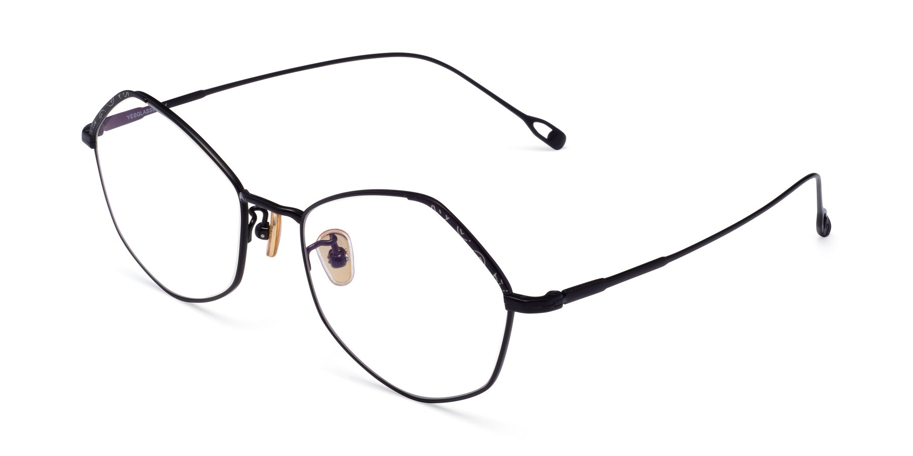 Angle of Phoenix in Black with Clear Blue Light Blocking Lenses