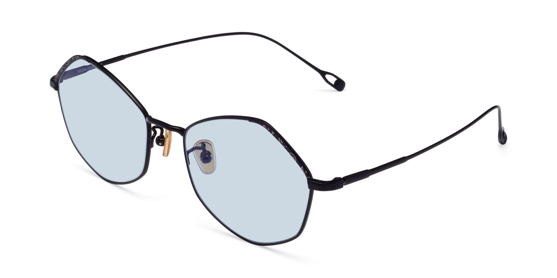 Angle of Phoenix in Black with Light Blue Tinted Lenses