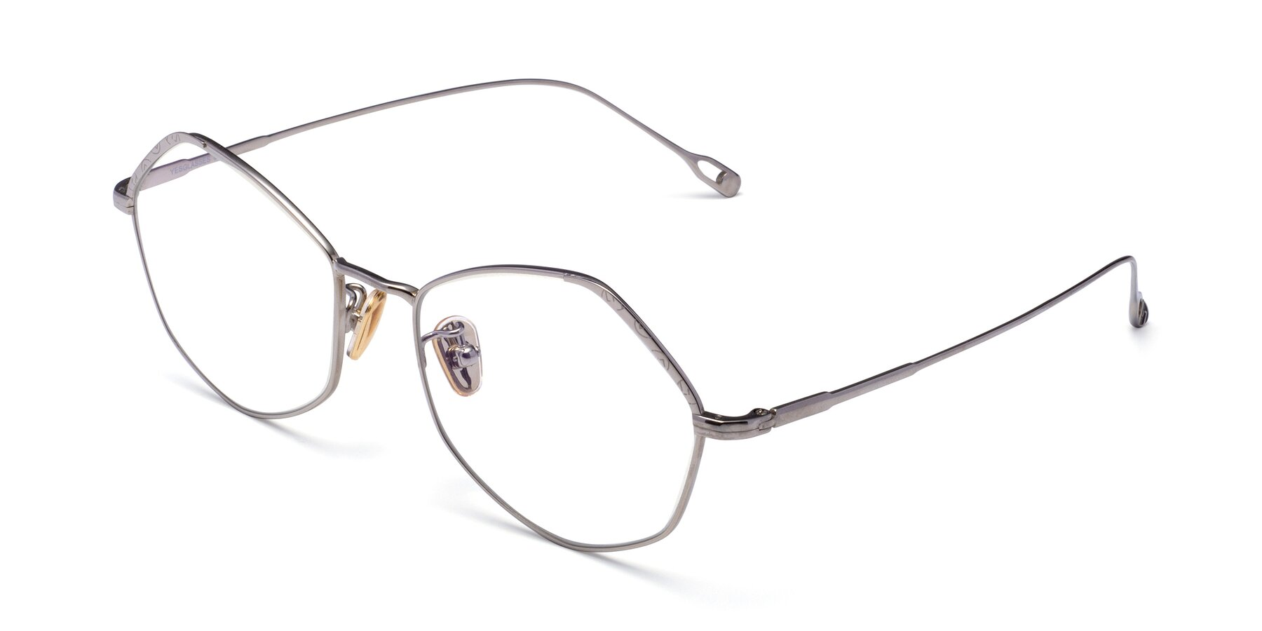 Angle of Phoenix in Silver with Clear Eyeglass Lenses