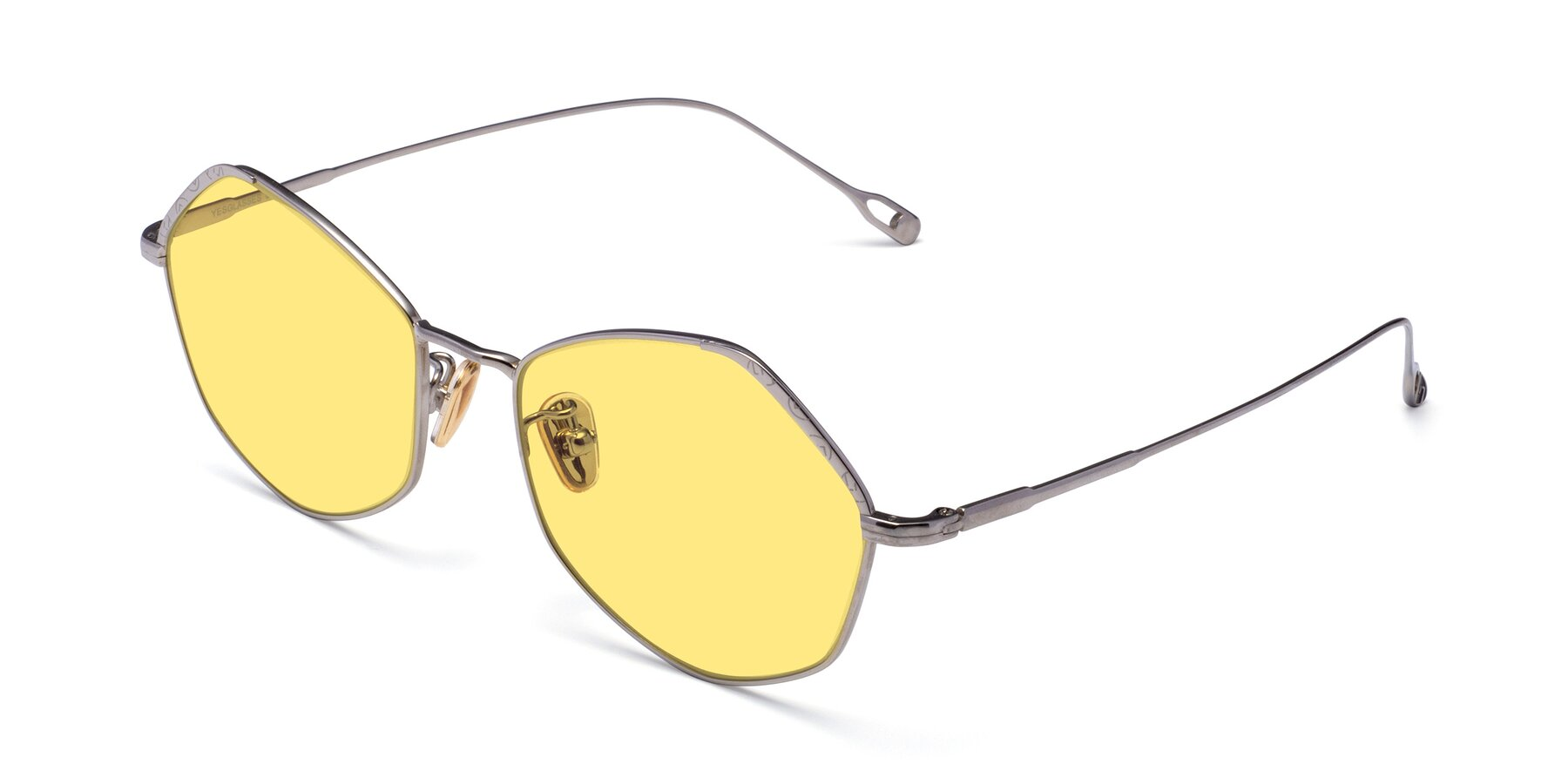 Angle of Phoenix in Silver with Medium Yellow Tinted Lenses