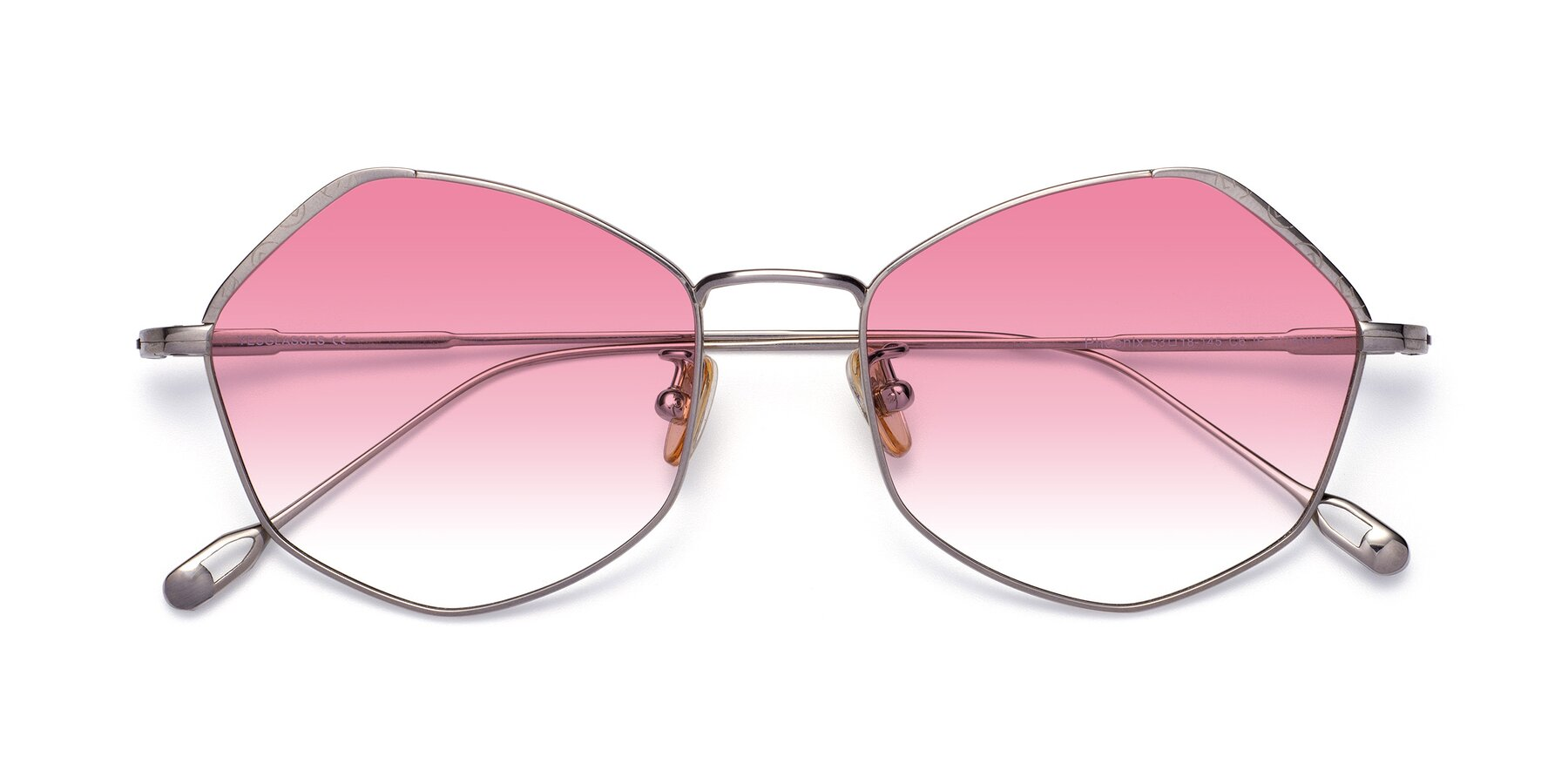 Folded Front of Phoenix in Silver with Pink Gradient Lenses