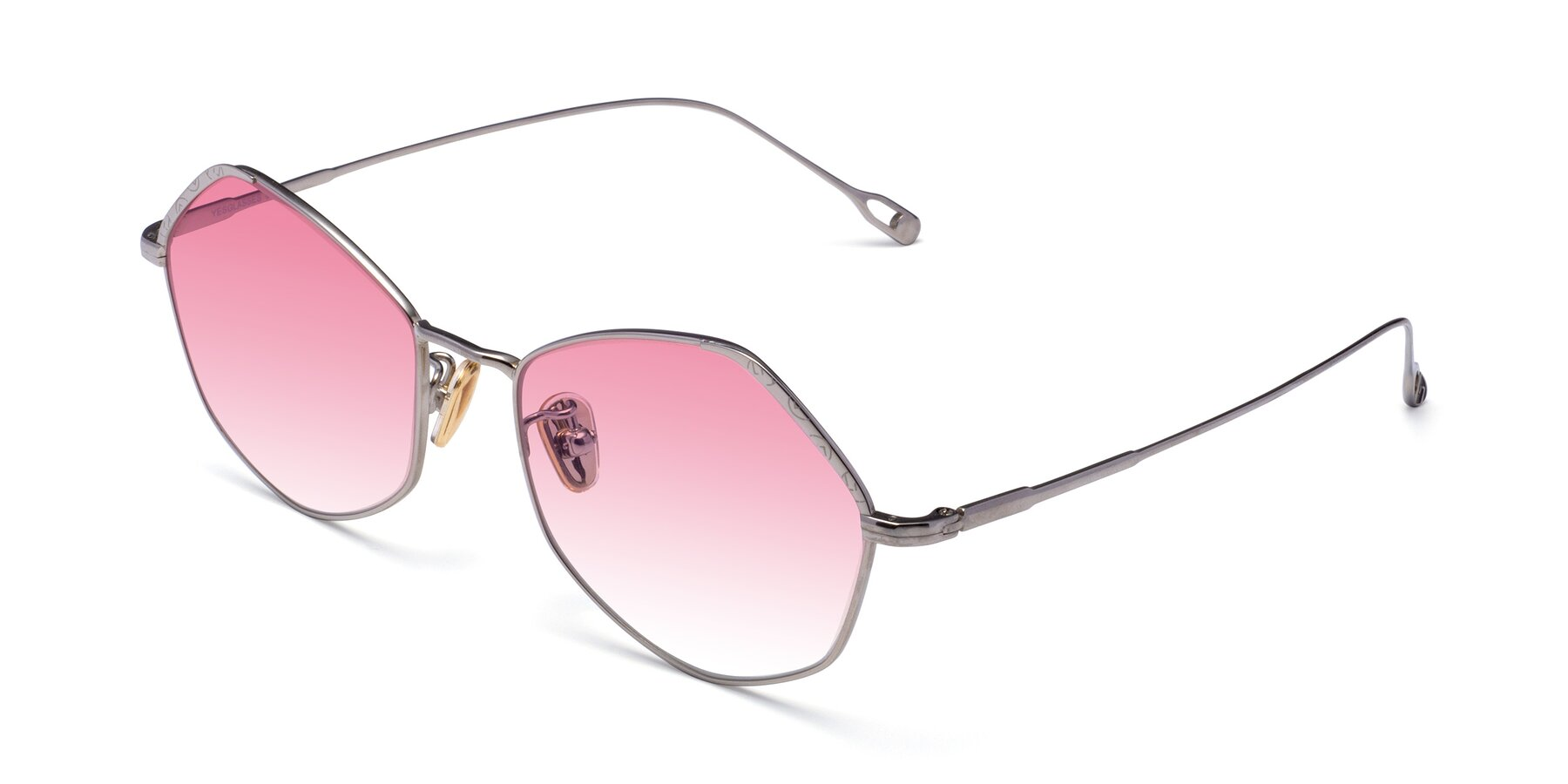 Angle of Phoenix in Silver with Pink Gradient Lenses