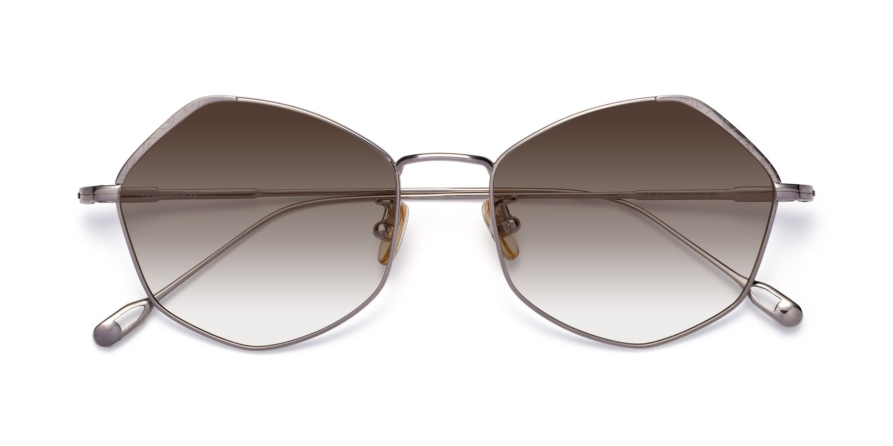 Folded Front of Phoenix in Silver with Brown Gradient Lenses