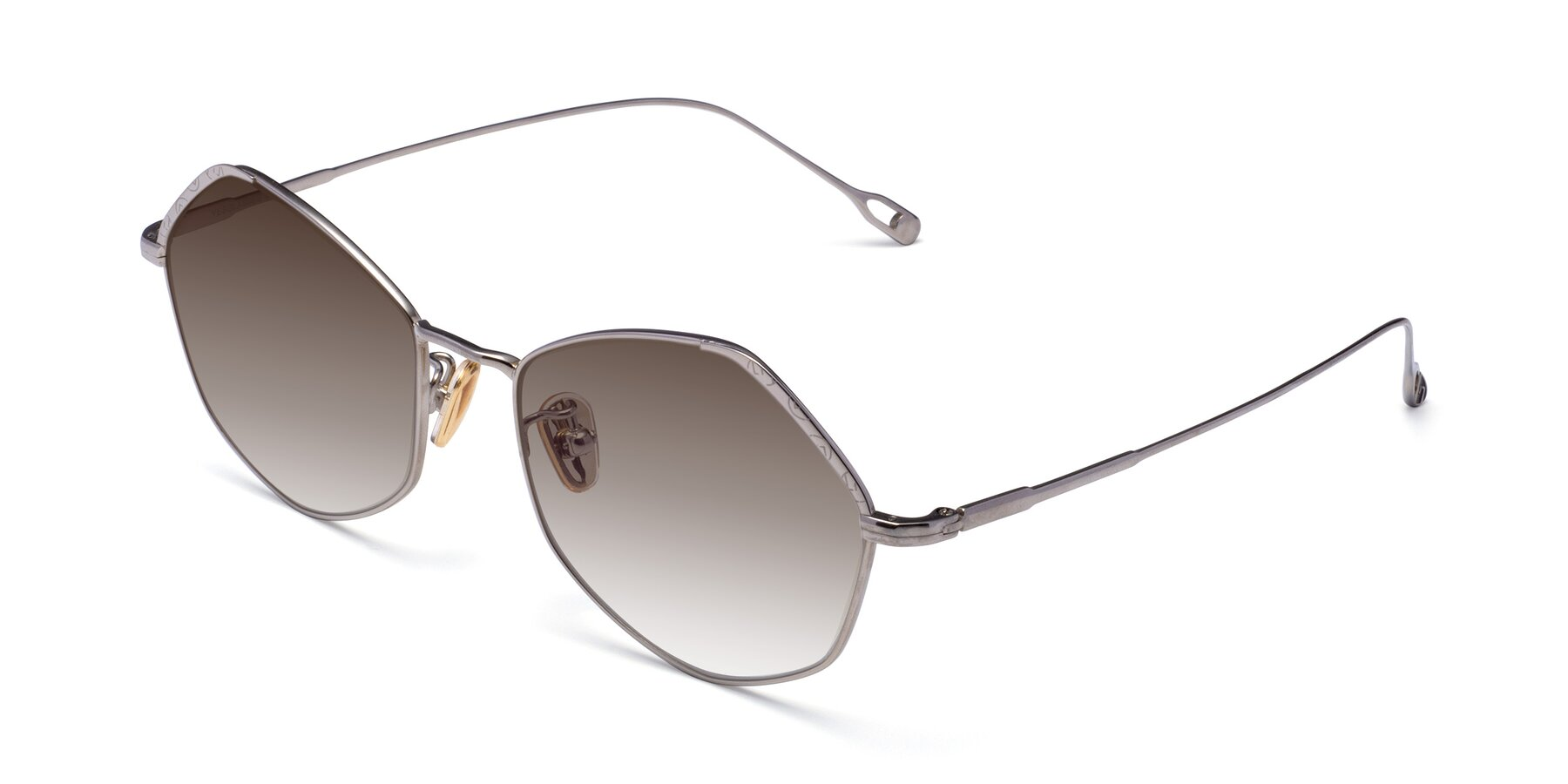 Angle of Phoenix in Silver with Brown Gradient Lenses