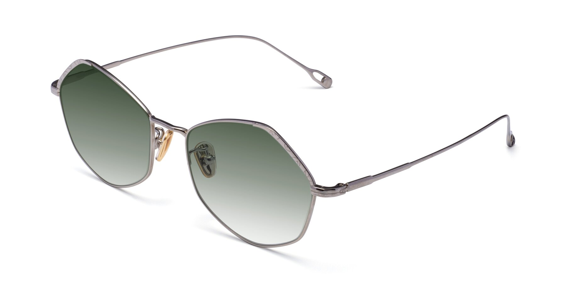 Angle of Phoenix in Silver with Green Gradient Lenses