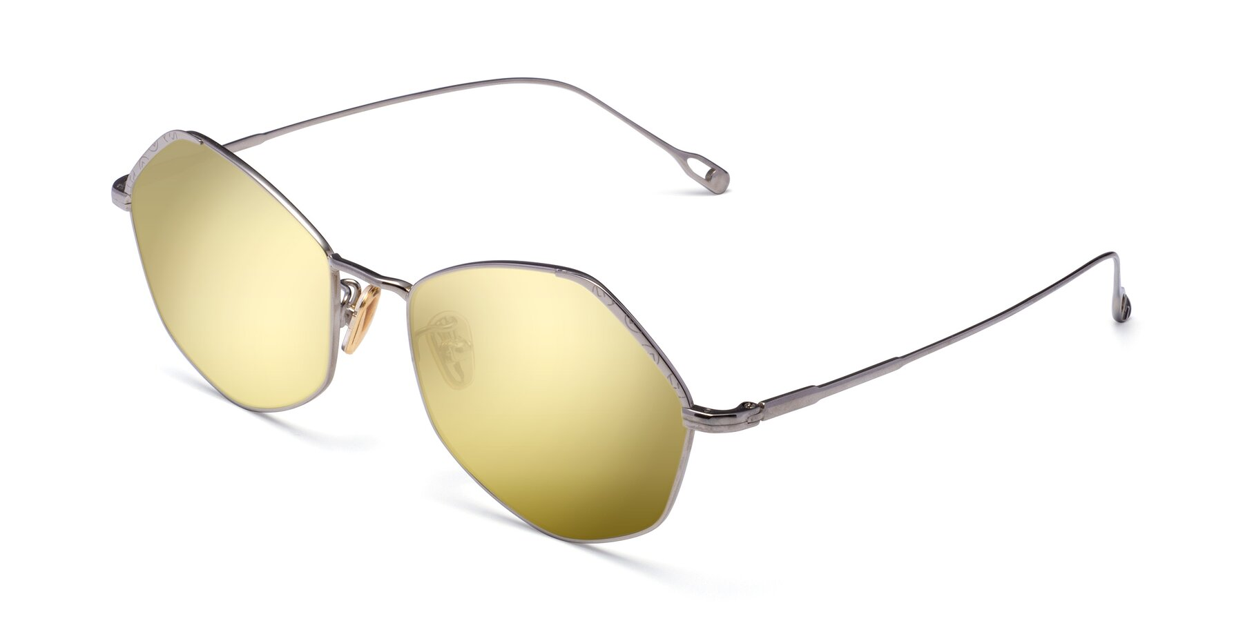 Angle of Phoenix in Silver with Gold Mirrored Lenses