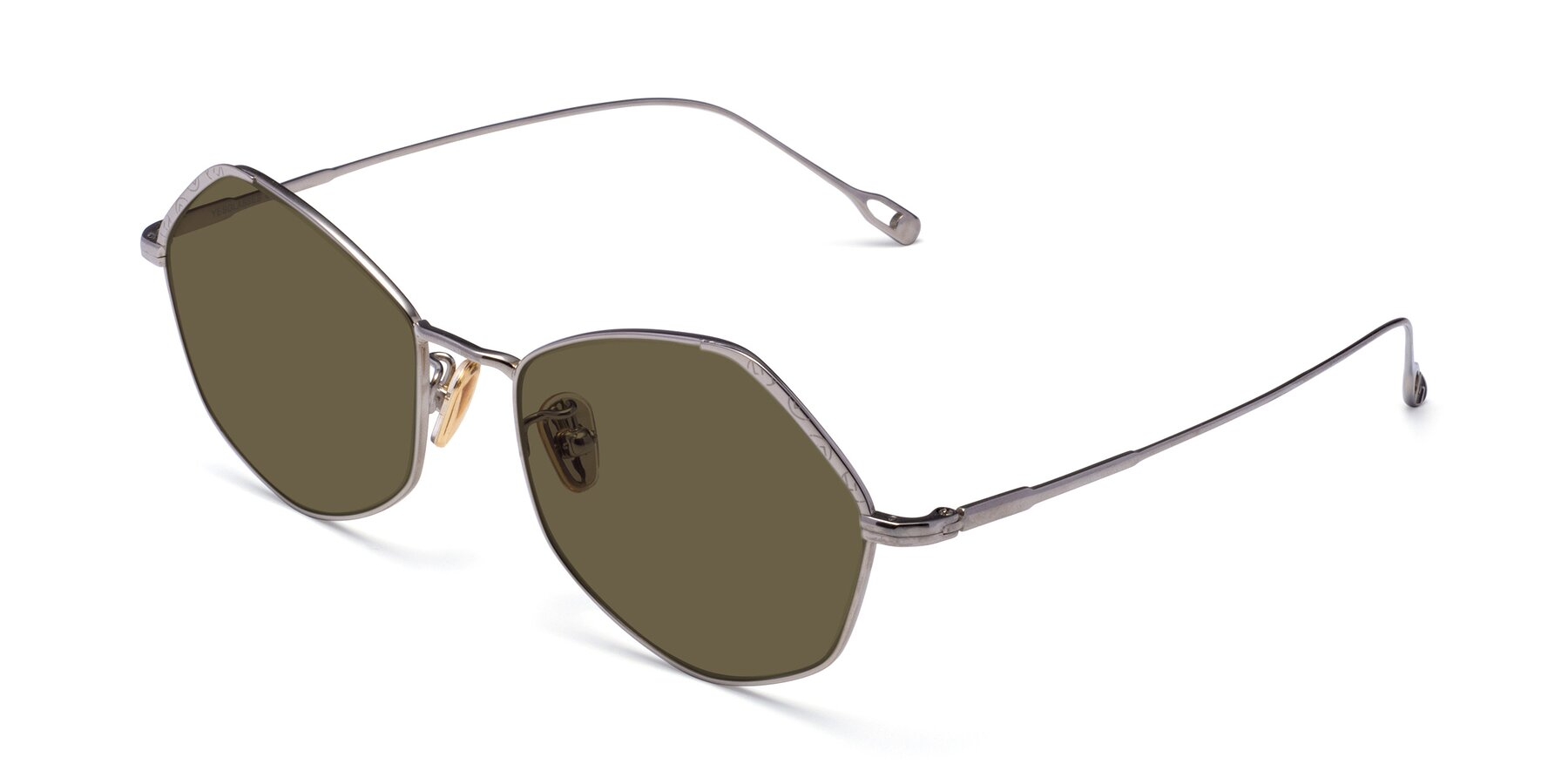 Angle of Phoenix in Silver with Brown Polarized Lenses