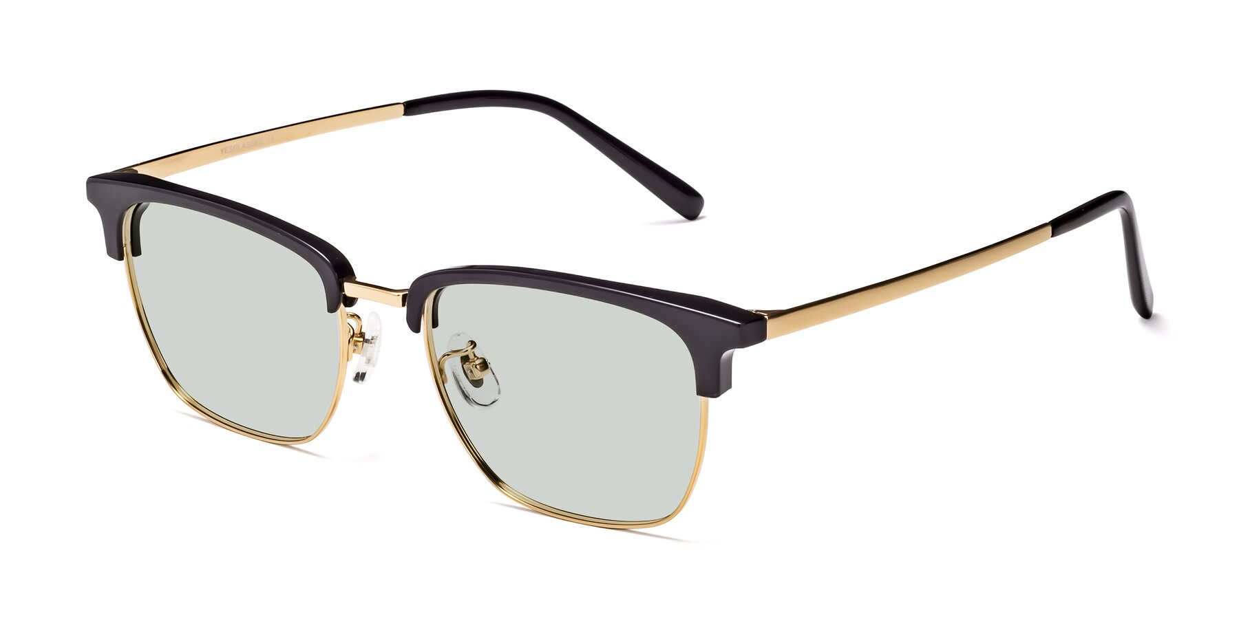 Angle of Milpa in Black-Gold with Light Green Tinted Lenses