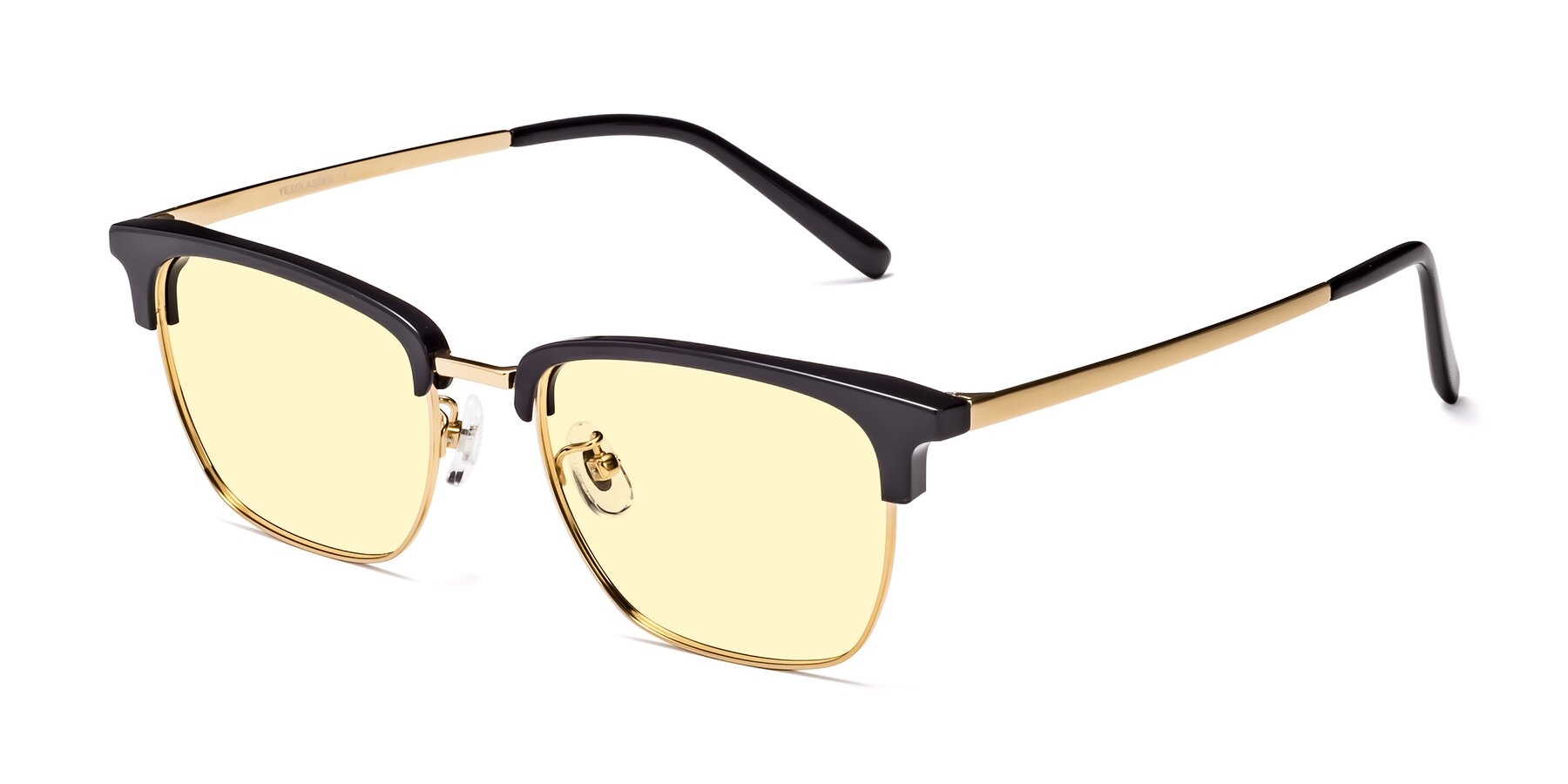 Angle of Milpa in Black-Gold with Light Yellow Tinted Lenses