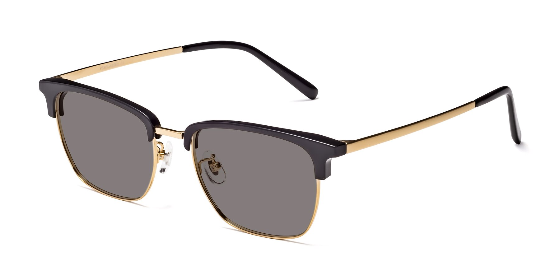 Angle of Milpa in Black-Gold with Medium Gray Tinted Lenses