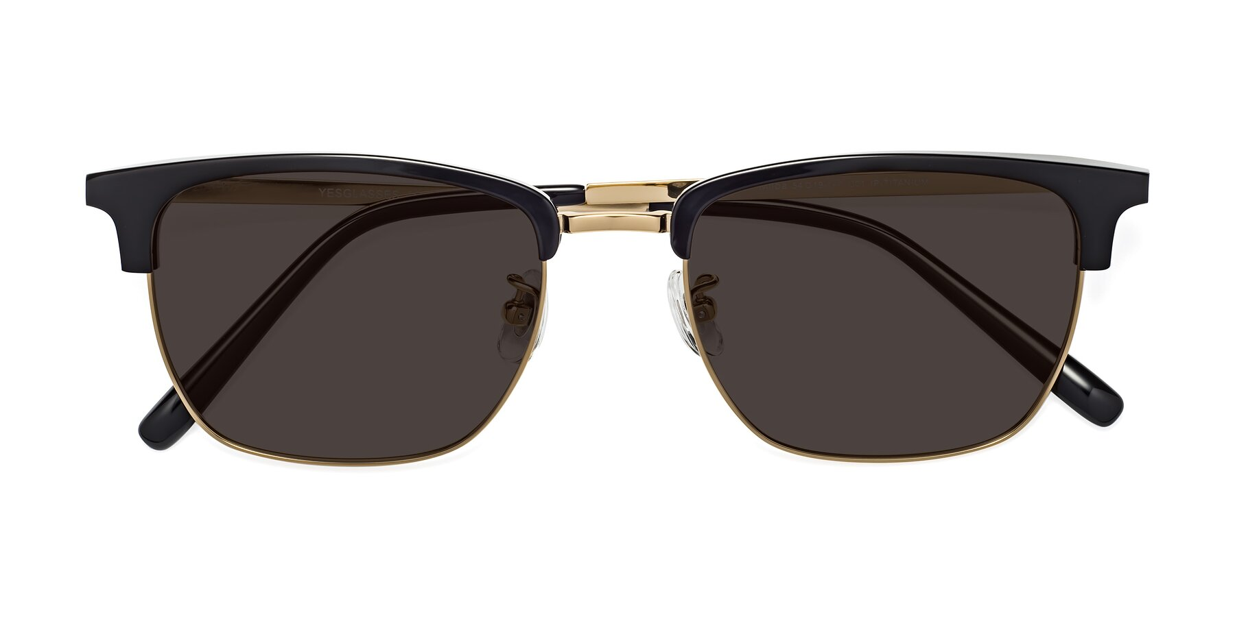 Folded Front of Milpa in Black-Gold with Gray Tinted Lenses