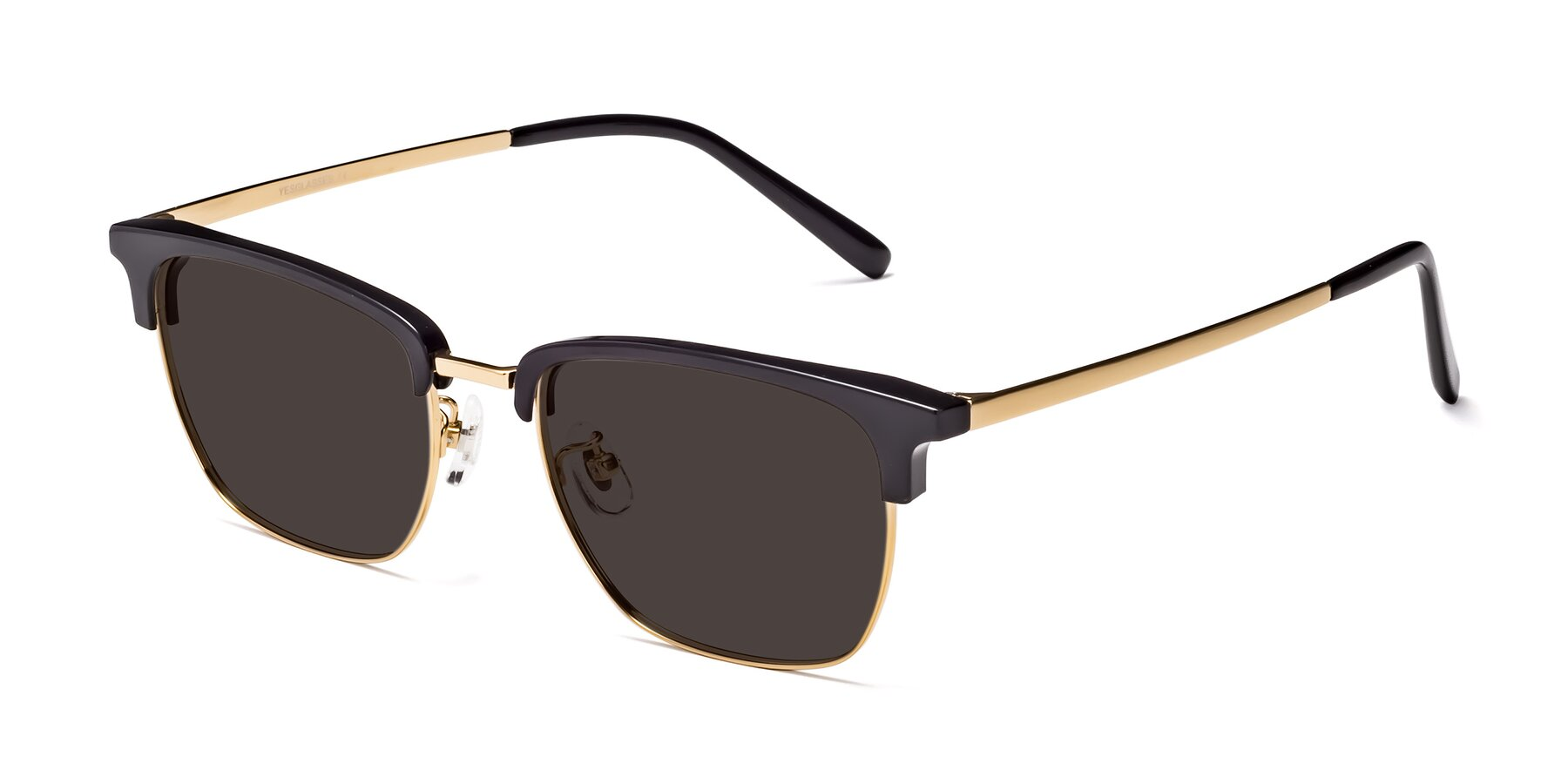 Angle of Milpa in Black-Gold with Gray Tinted Lenses