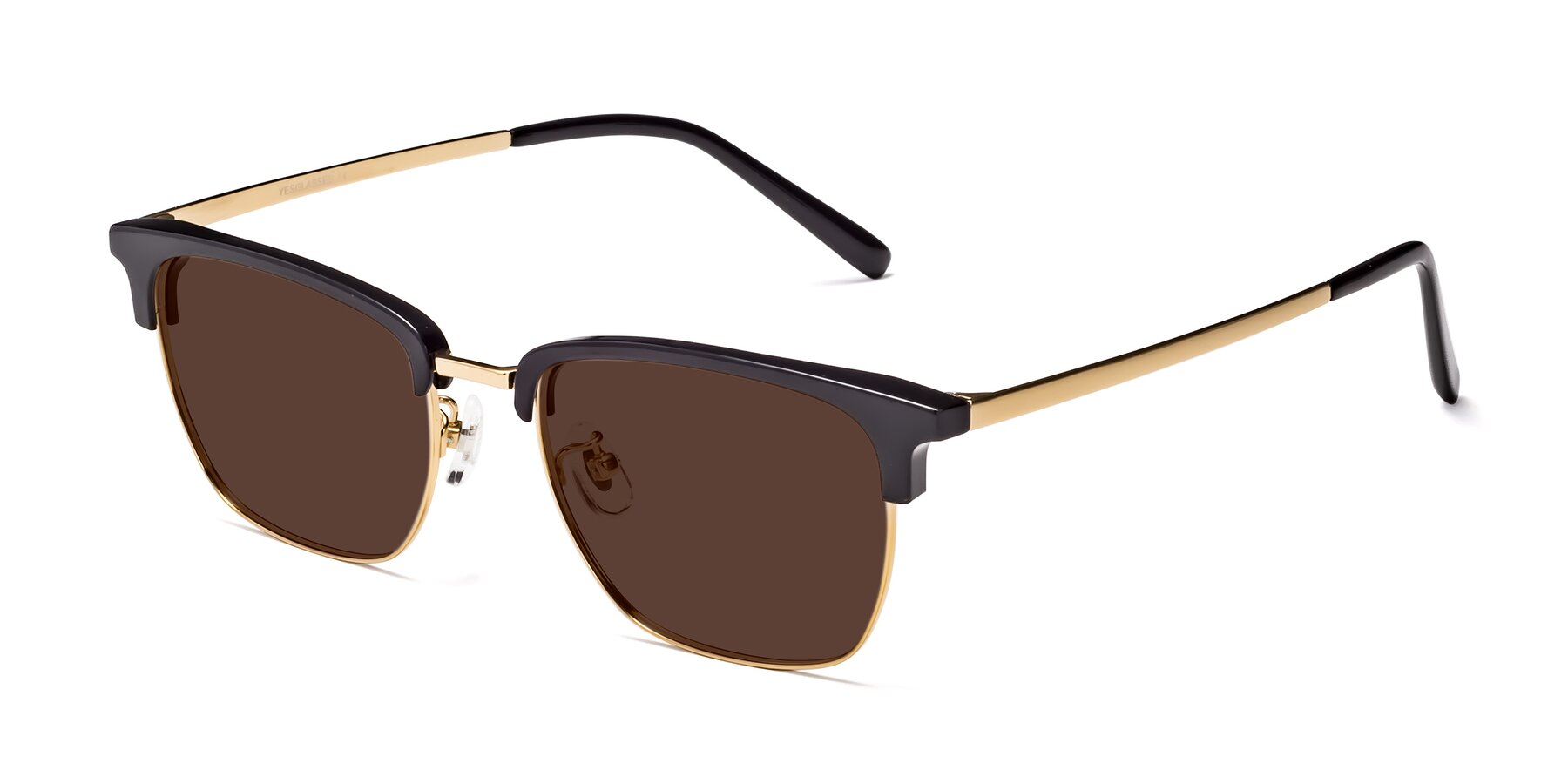 Angle of Milpa in Black-Gold with Brown Tinted Lenses