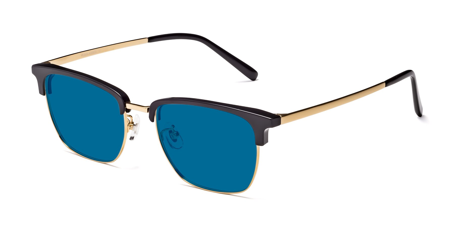 Angle of Milpa in Black-Gold with Blue Tinted Lenses