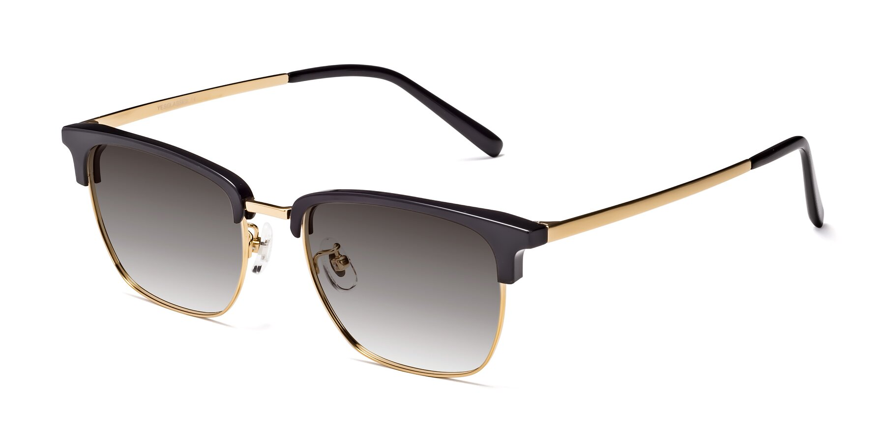 Angle of Milpa in Black-Gold with Gray Gradient Lenses