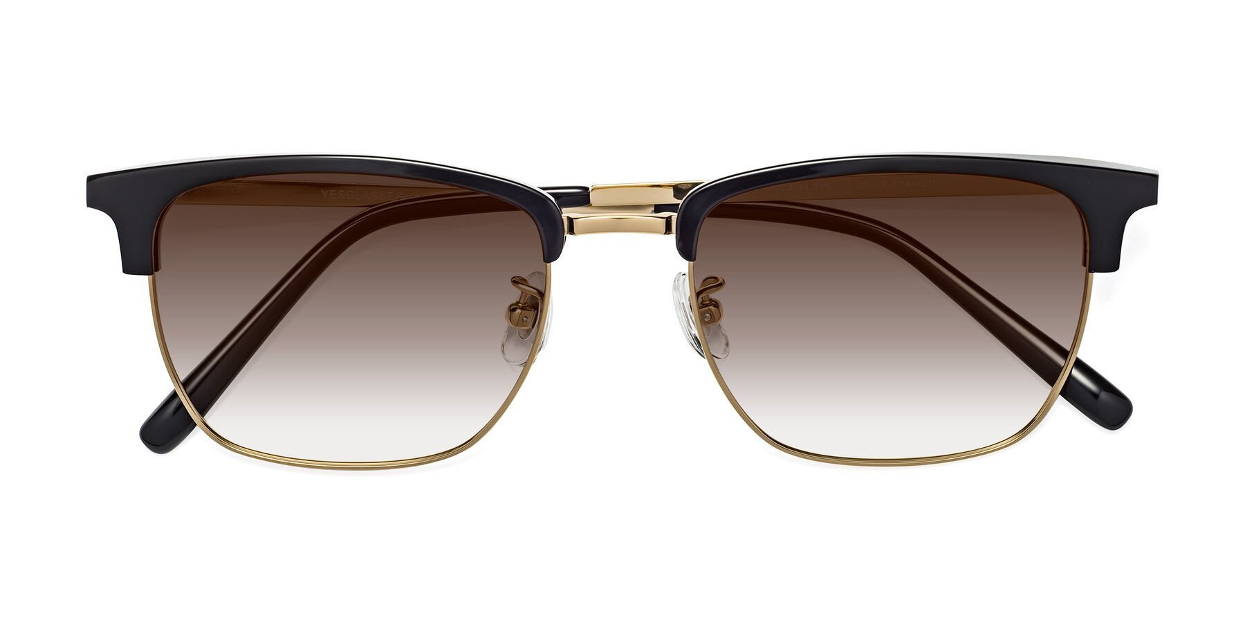 Folded Front of Milpa in Black-Gold with Brown Gradient Lenses