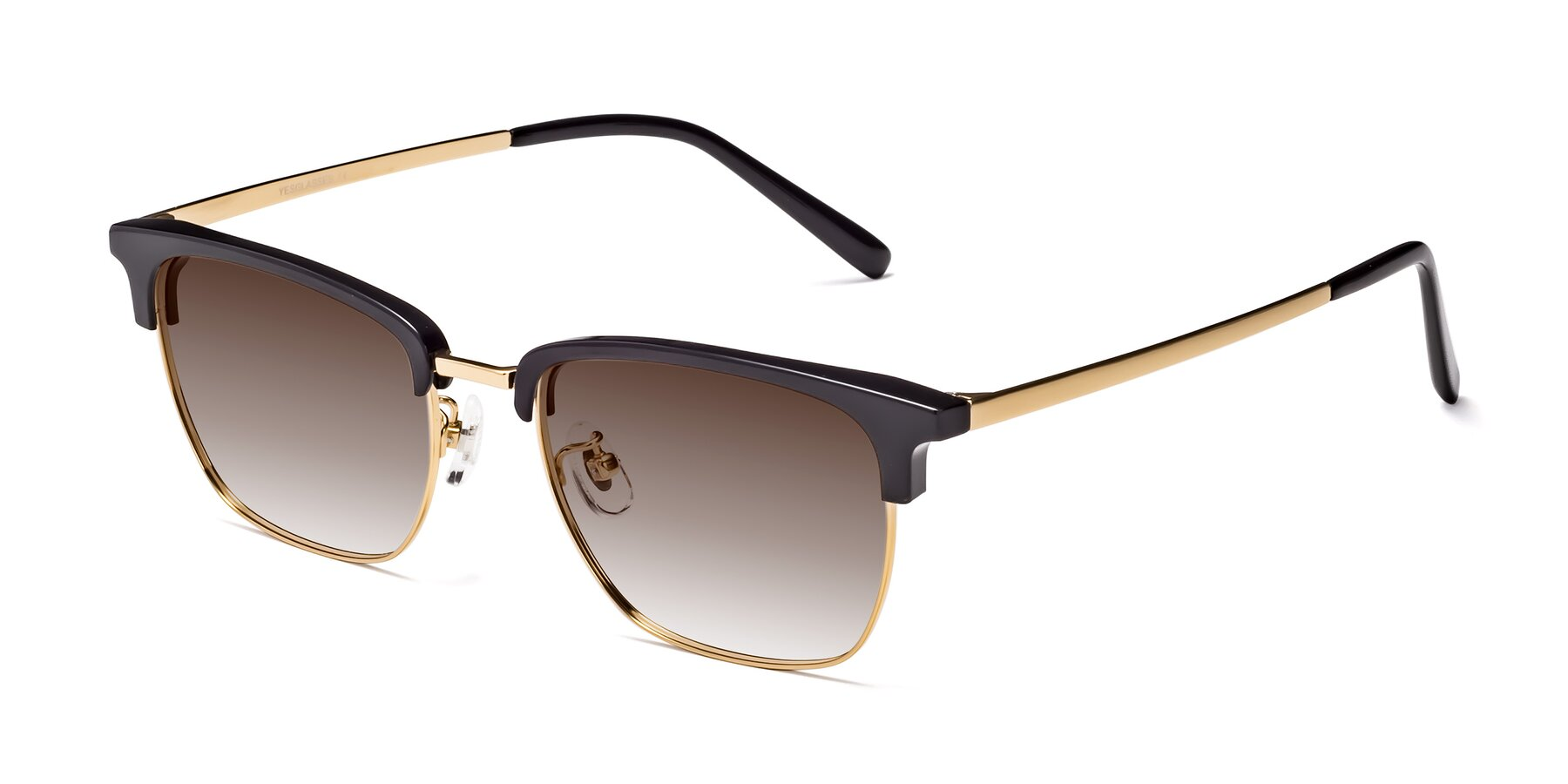 Angle of Milpa in Black-Gold with Brown Gradient Lenses