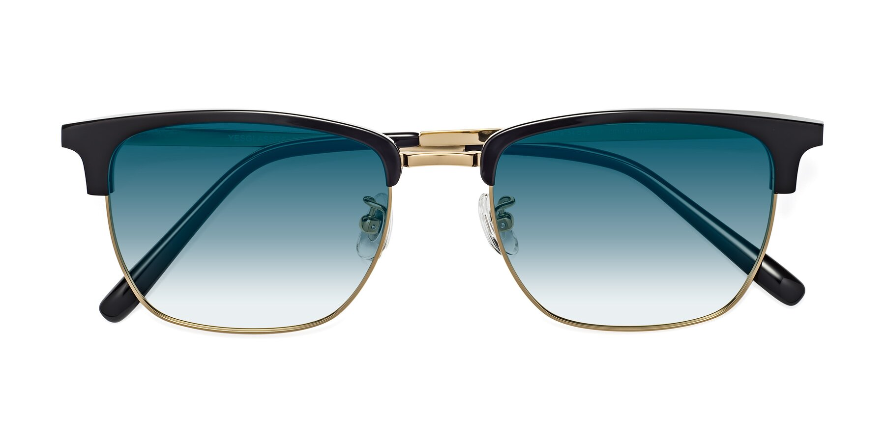 Folded Front of Milpa in Black-Gold with Blue Gradient Lenses
