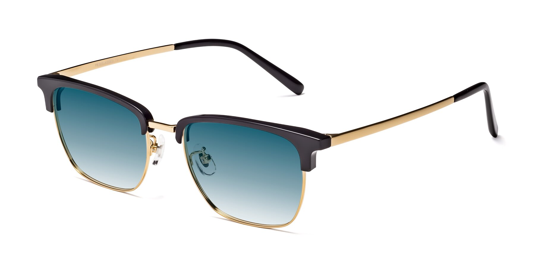 Angle of Milpa in Black-Gold with Blue Gradient Lenses