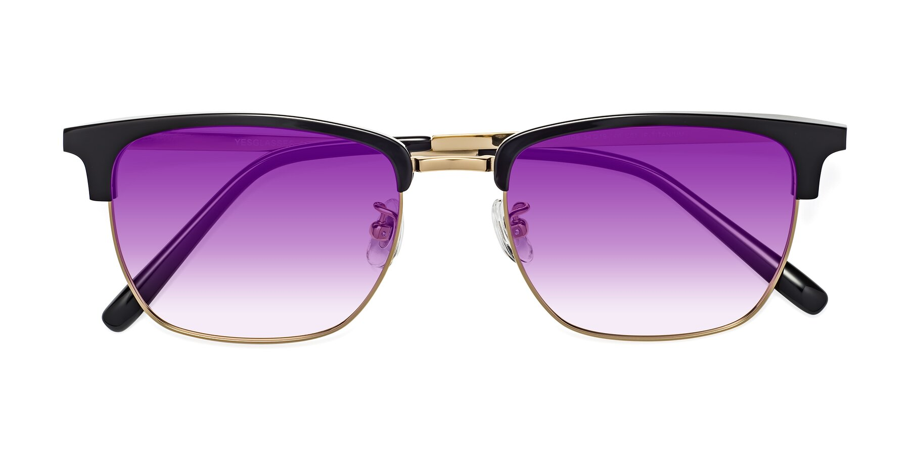 Folded Front of Milpa in Black-Gold with Purple Gradient Lenses