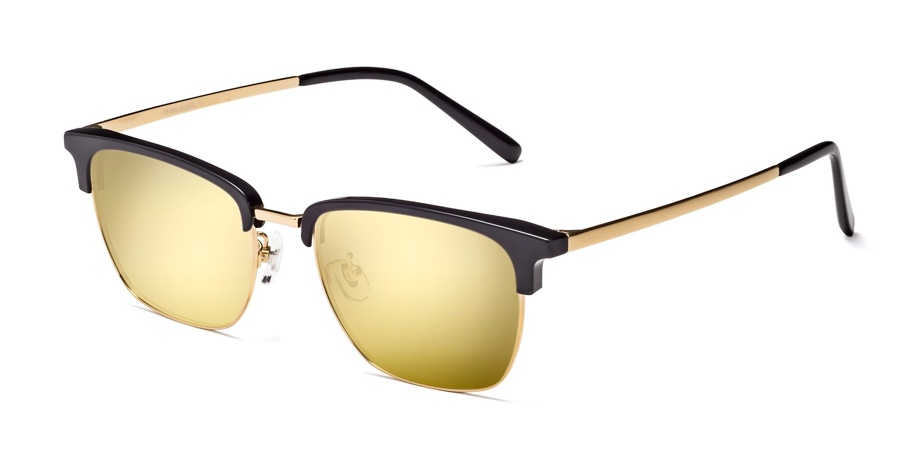 Angle of Milpa in Black-Gold with Gold Mirrored Lenses