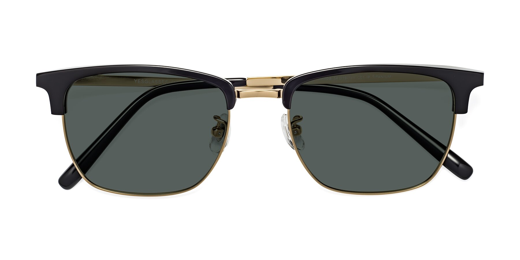 Folded Front of Milpa in Black-Gold with Gray Polarized Lenses
