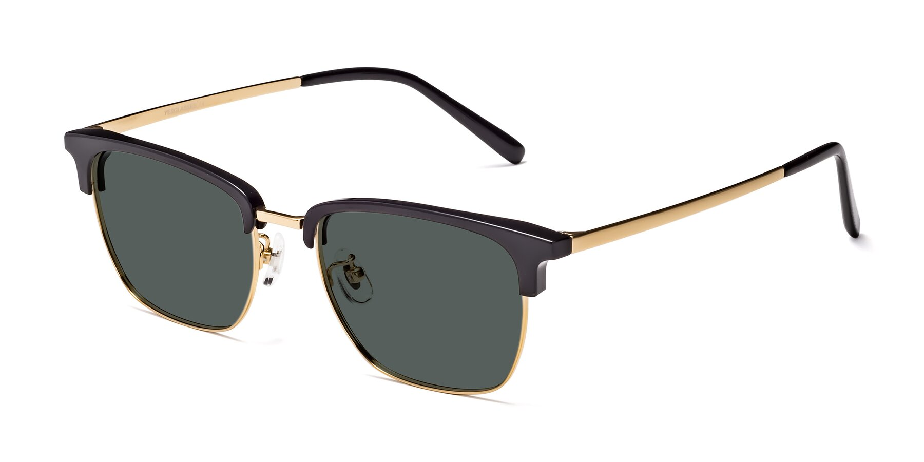Angle of Milpa in Black-Gold with Gray Polarized Lenses