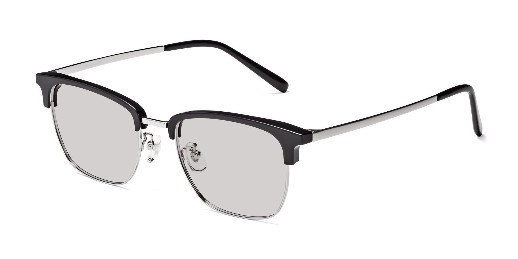 Angle of Milpa in Black-Silver with Light Gray Tinted Lenses