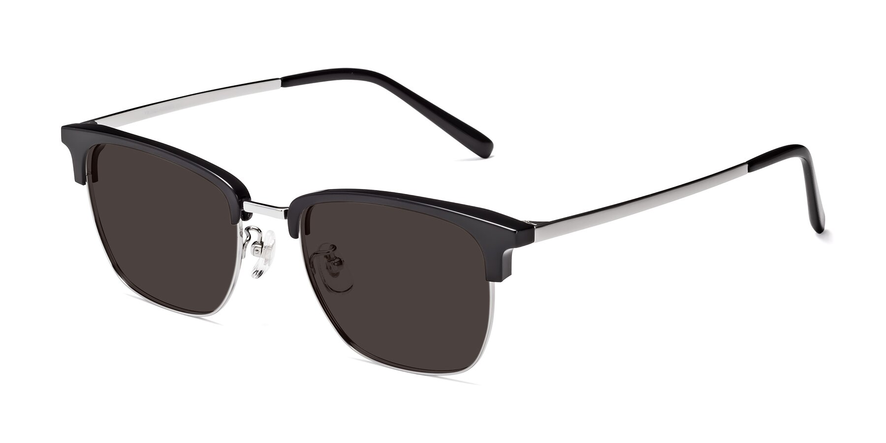 Angle of Milpa in Black-Silver with Gray Tinted Lenses