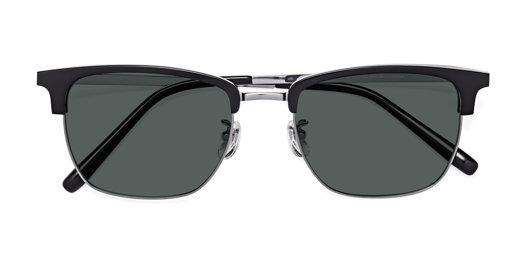 Folded Front of Milpa in Black-Silver with Gray Polarized Lenses