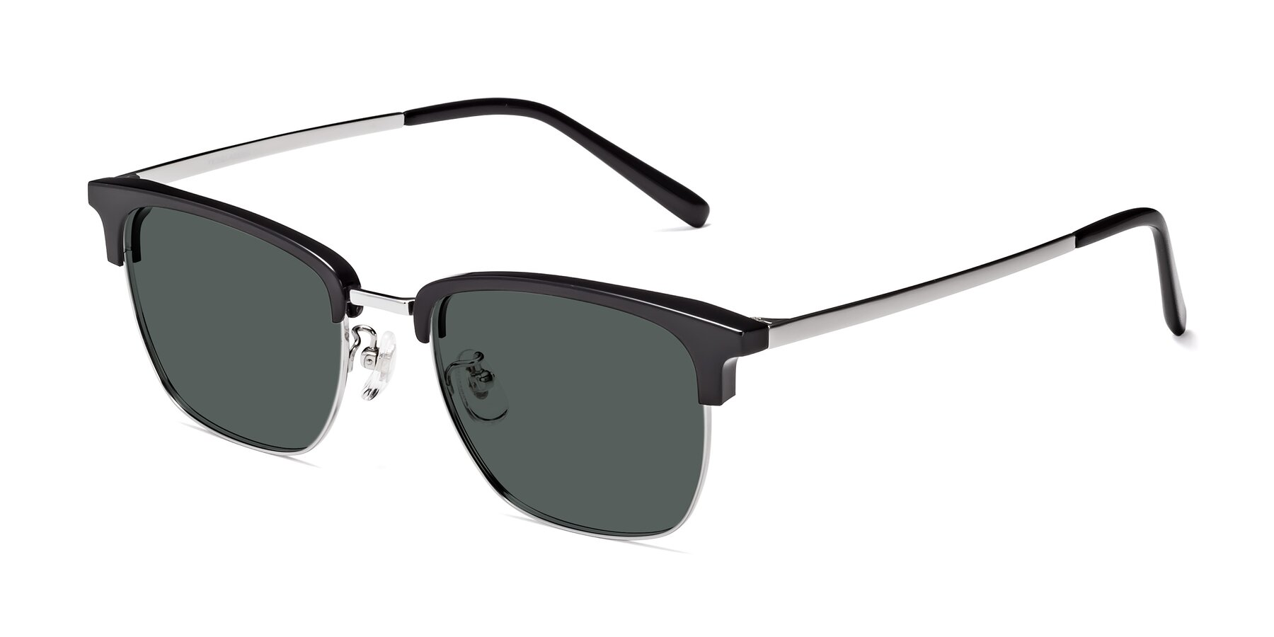 Angle of Milpa in Black-Silver with Gray Polarized Lenses