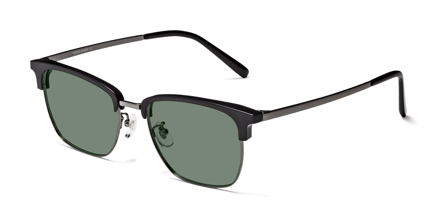 Angle of Milpa in Black-Gun with Medium Green Tinted Lenses