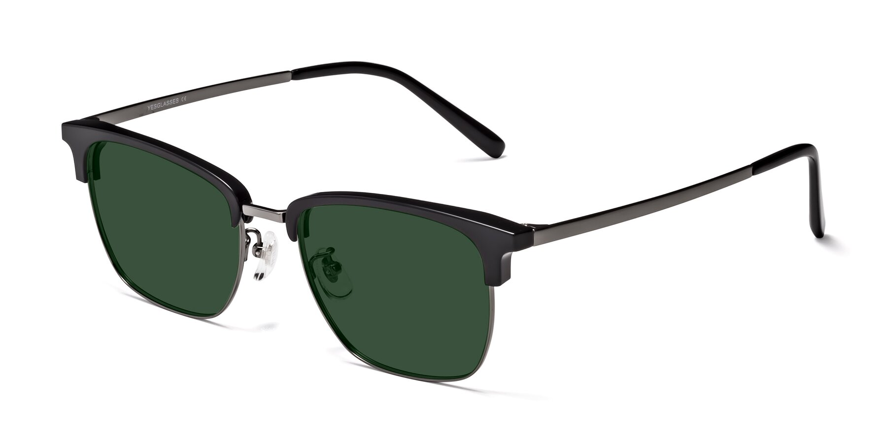 Angle of Milpa in Black-Gun with Green Tinted Lenses