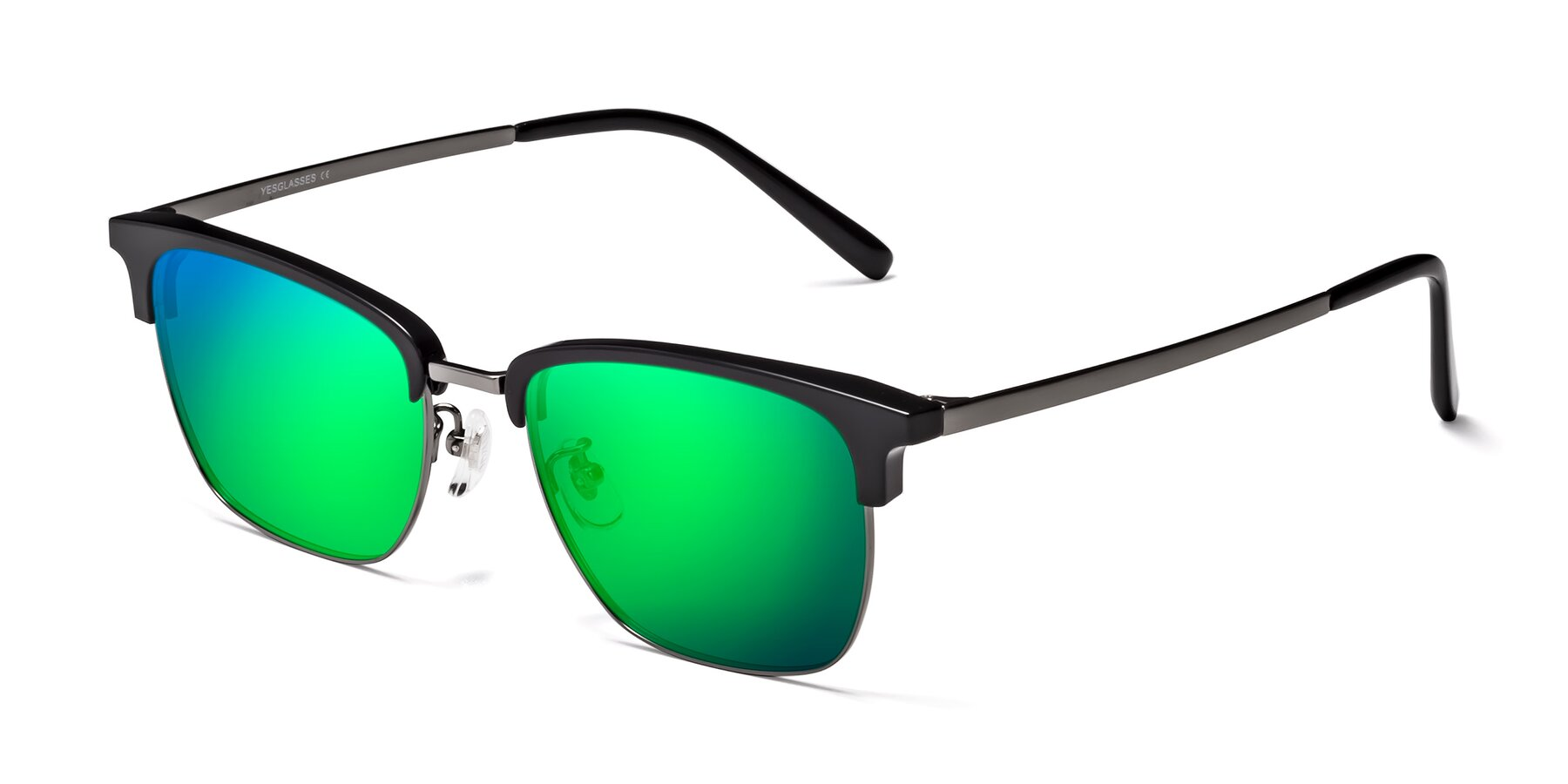 Angle of Milpa in Black-Gun with Green Mirrored Lenses
